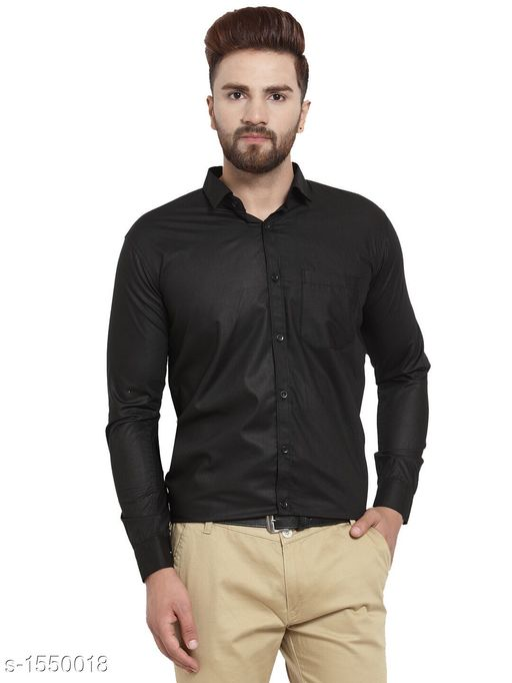 Cotton Men's Solid Shirt