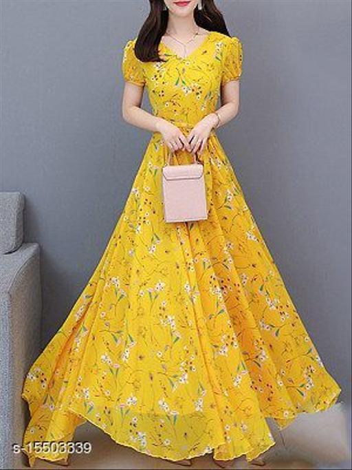 Womens_Yellow Flower Print Dress_0106