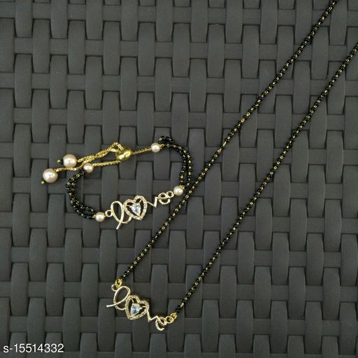 Twinkling elegant mangalsutra with bracelet