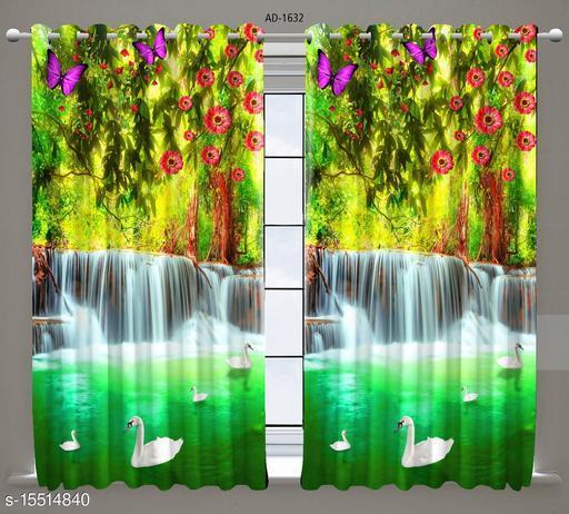 3d Design beautiful  9 FT single curtain