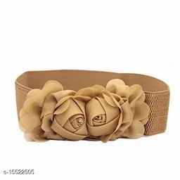 Women Casual Brown Faux Leather Belt