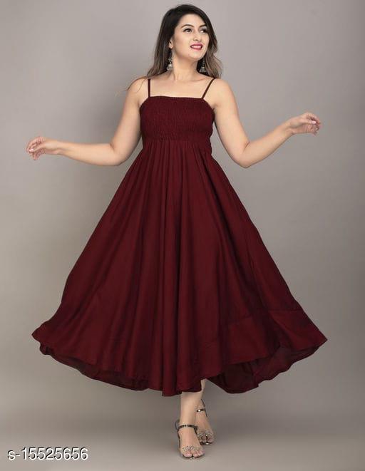 Women Partywear Dress Gown For Havy Rayon