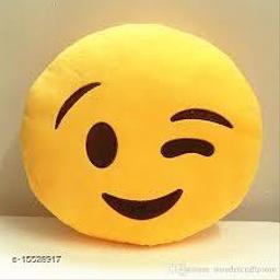 Ultimated ZoneMicrofiber Wlink Smile face Emoji Emoji Cushions Pillows Pack of 1