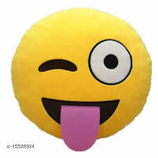 Ultimated ZoneNaughty Smile face Emoji Emoji Cushions Pillows Pack of 1