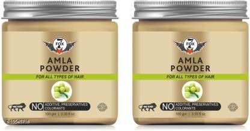 7 FOX Pure & Natural Amla Powder-100GM-Packof-2-Jar- (200 g)