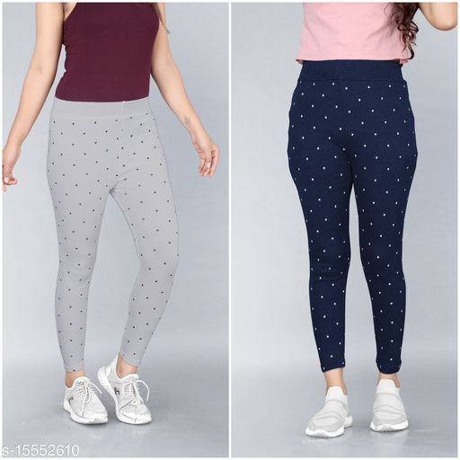 Trendy Womens Jeggings Pack Of 2(Size:-26 to 36)