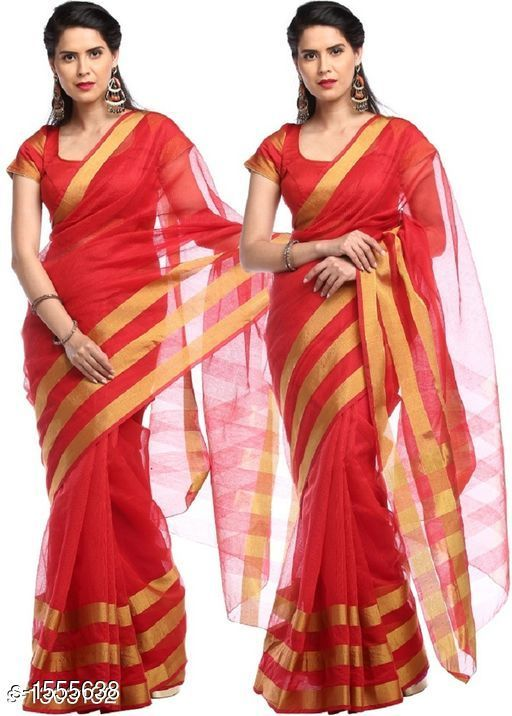 Sarees Pretty South Silk Saree  *Fabric* Saree - South Silk, Blouse - South Silk  *Size* Saree Length - 5.3 Mtr, Blouse Length - 0.70 Mtr  *Work* Golden Printed  *Sizes Available* Free Size *   Catalog Rating: ★4 (11)  Catalog Name: Inaaya Embroidered Kasavu Silk Sarees CatalogID_202244 C74-SC1004 Code: 484-1555638-