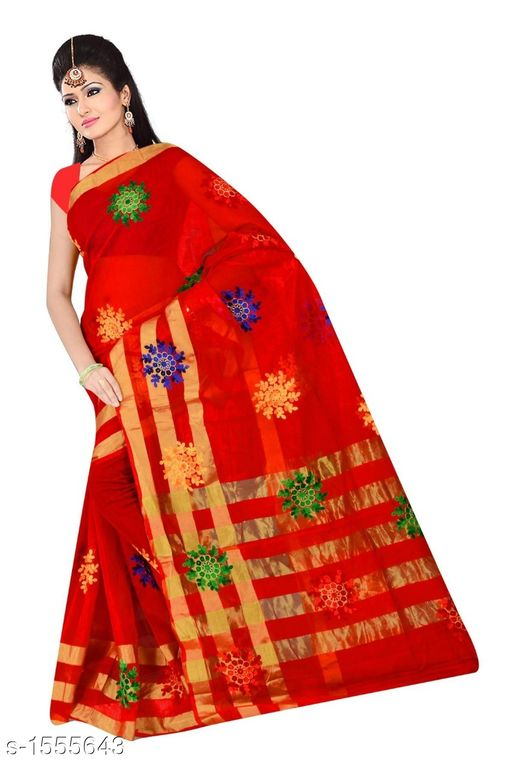 Sarees Pretty South Silk Saree  *Fabric* Saree - South Silk, Blouse - South Silk  *Size* Saree Length - 5.3 Mtr, Blouse Length - 0.70 Mtr  *Work* Embroidered  *Sizes Available* Free Size *   Catalog Rating: ★4 (11)  Catalog Name: Inaaya Embroidered Kasavu Silk Sarees CatalogID_202244 C74-SC1004 Code: 484-1555643-