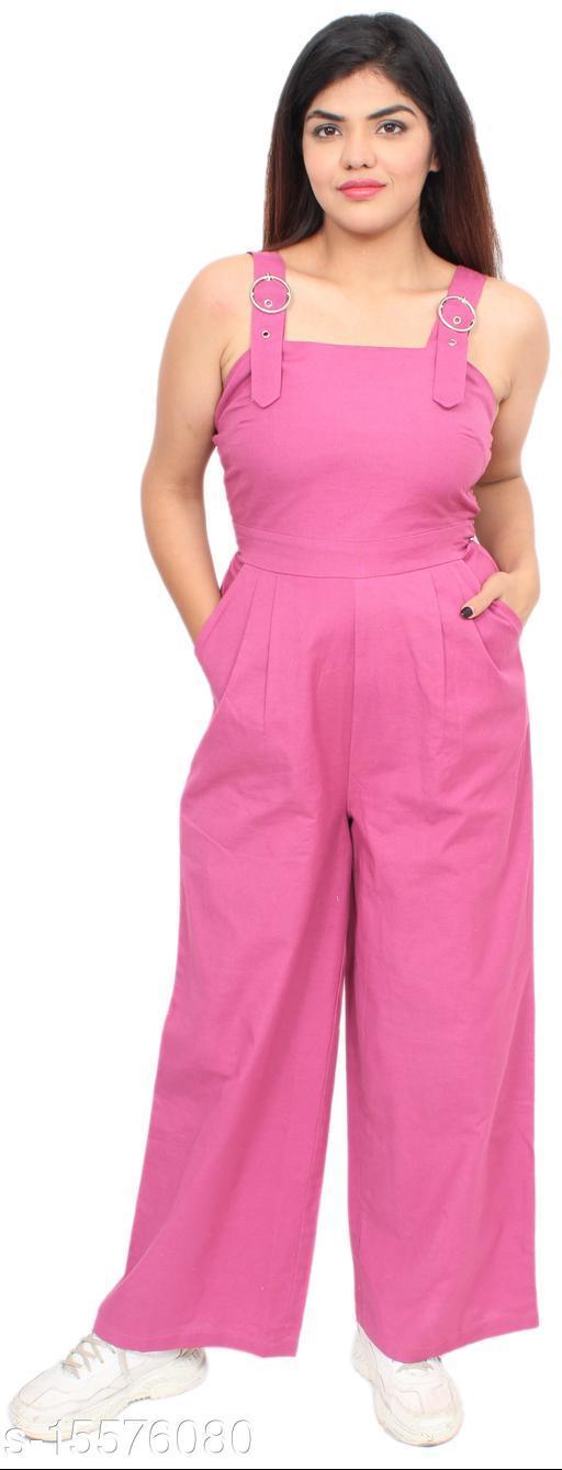 PINK Solid Women Jumpsuit