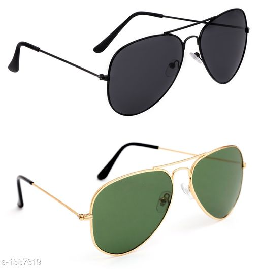 Attractive Stylish Unisex Sunglasses ( Pack Of 2 )