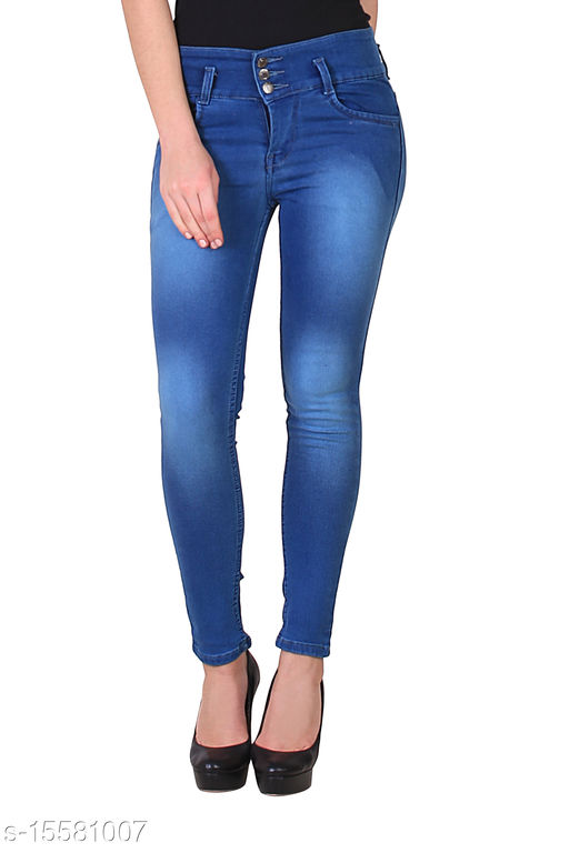 Royce Trend High Stretchable Jean Dark Blue  Color