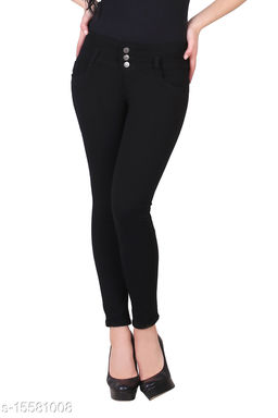 Royce Trend High Stretchable Jean Black  Color