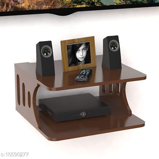 Namra Arts Wooden Wall Shelf Pot Stand Router Stand Wi-Fi Modem Stand