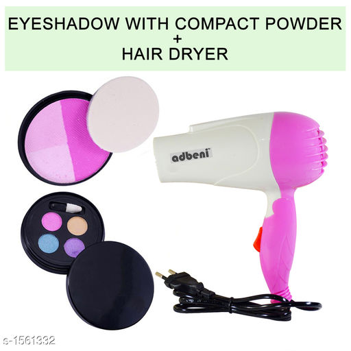 Makeup Kits Premium Choice Unique Makeup Kit  Combo  *Product Name* Adbeni Eyeshadow with Compact Powder & Nova Hair Dryer Combo Makeup-Sets of 2 Pc- GC405  	   *Product  Type* Makeup Kit  *Product Description*