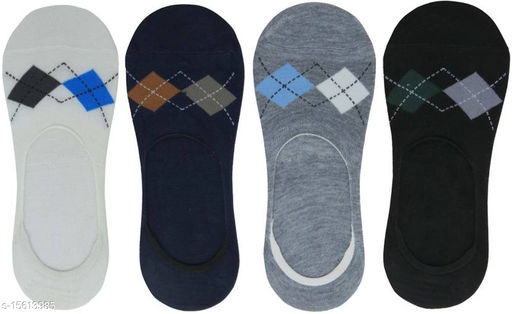 Socxy Store Lofer/Low Cut/Footies Socks With Grip (pair Of 4)