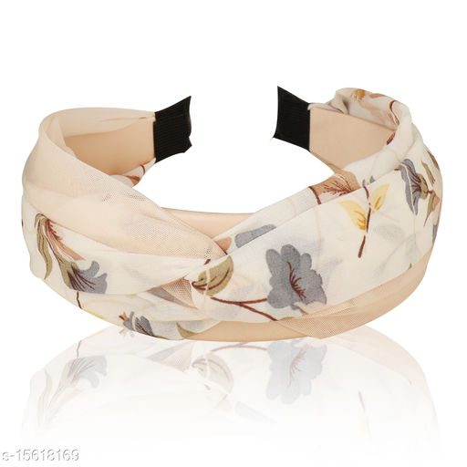 Vembley Cream Plastic Monsoon Skies Hairband