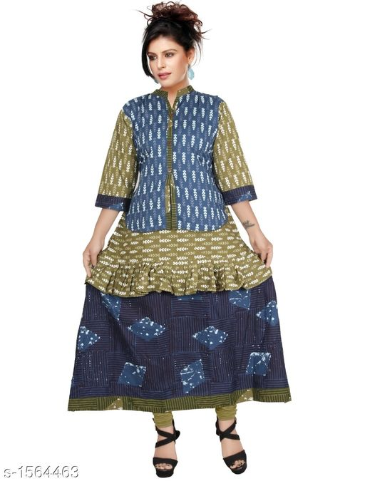 Kurtis & Kurtas Contemporary Cotton Printed Kurti  *Fabric* Cotton  *Sleeves* Sleeves Are Included  *Size* L - 40 in, XL - 44 in           *Length* Up To 48 in  *Type* Stitched  *Description* It Has 1 Piece Of Women's Kurtis  *Work* Printed  *Sizes Available* L, XL   Supplier Rating: ★4.1 (552) SKU: CCPK_5 Free shipping is available for this item. Pkt. Weight Range: 300  Catalog Name: Kashvi Contemporary Cotton Printed Kurtis Vol 3 - Dracy Code: 876-1564463--