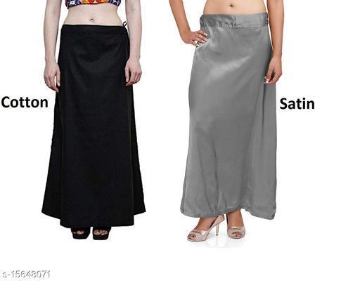 Stylish Cotton and Satin Petticoat Combo