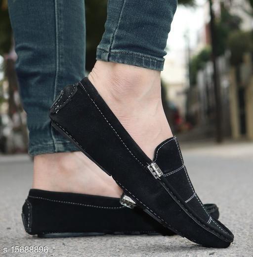 Stylish Men's Suede Black Casual Shoes