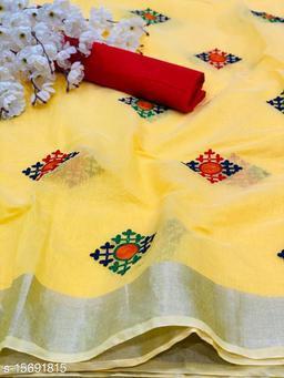 Rich Looking fancy embtoidery work Modal silk Saree