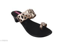 Attractive Women's Synthetic Black Heels