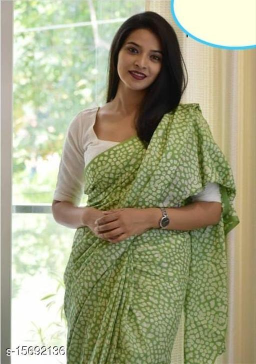 Trendy Cotton Mulmul Women's Sarees