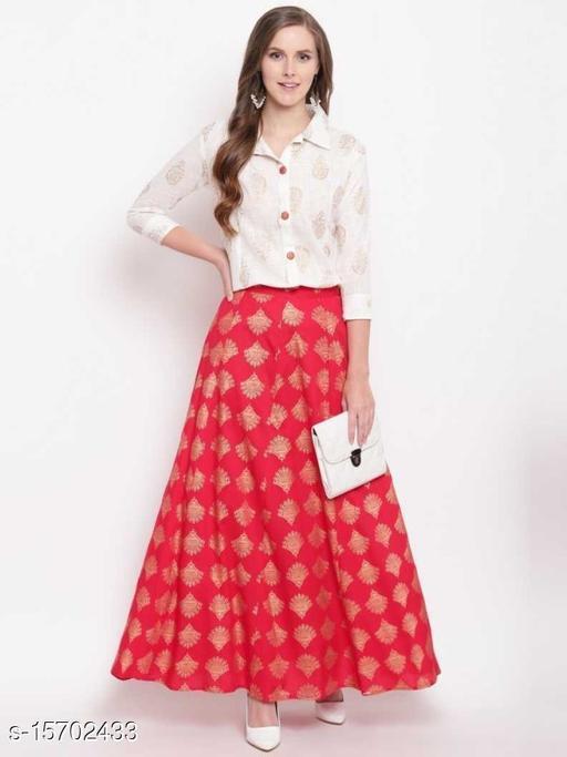 Stylish Fashionista Women Ethnic Skirts and Tops