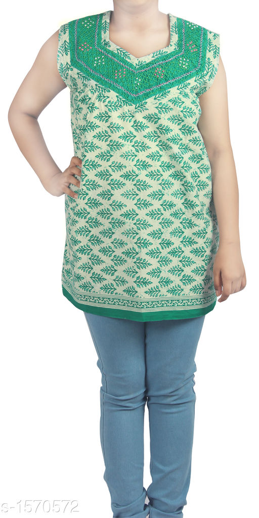 Kurtis & Kurtas Stunning Designer Stylish Short Kurti  *Fabric* Cotton  *Sleeves* Sleeves Are Included  *Size* Up To 36 in To 44 in (Free Size)  *Length* Up To 27 in  *Type* Stitched  *Description* It Has 1 Piece Of Women's Short Kurti  *Work* Printed  *Sizes Available* Free Size   Supplier Rating: ★3.8 (83) SKU: HC-Green-Floral  Shipping charges: Rs49 (Non-refundable) Pkt. Weight Range: 300  Catalog Name: Diva Stunning Designer Stylish Short Kurtis Vol 1 - HEMA FASHIONS Code: 942-1570572--
