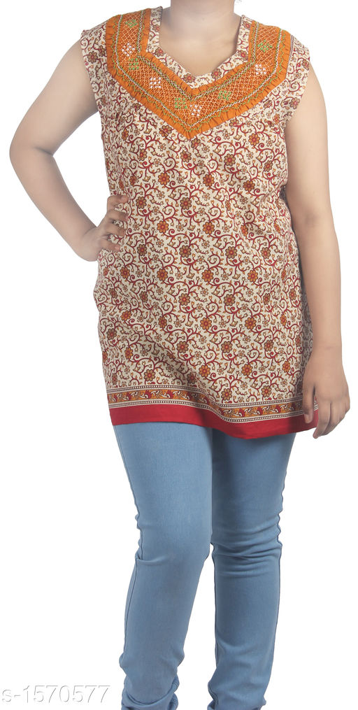 Kurtis & Kurtas Stunning Designer Stylish Short Kurti  *Fabric* Cotton  *Sleeves* Sleeves Are Included  *Size* Up To 36 in To 44 in (Free Size)  *Length* Up To 27 in  *Type* Stitched  *Description* It Has 1 Piece Of Women's Short Kurti  *Work* Printed  *Sizes Available* Free Size   Supplier Rating: ★3.8 (83) SKU: HC-Orange-Floral  Shipping charges: Rs49 (Non-refundable) Pkt. Weight Range: 300  Catalog Name: Diva Stunning Designer Stylish Short Kurtis Vol 1 - HEMA FASHIONS Code: 942-1570577--