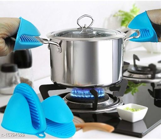 Silicone Pot Holder Heat Resistant, Oven Mitts Glove Cooking Pinch Grips Glove Hand Clip Convenient Pot Holder Kitchen Pot Holder Utensil Tool(MULTI COLOR, 1 PAIR)