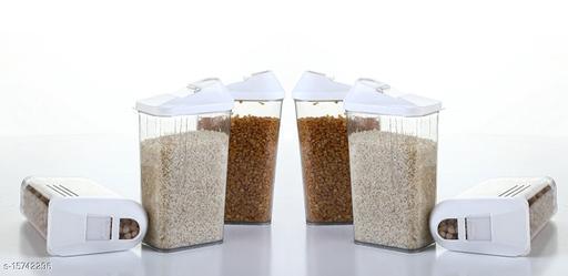 Frekich Esay Flow Plastic Storage Container - 1100 ml, 6 Pieces,