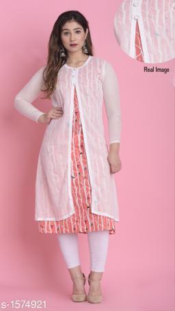 Divena Women's Cotton Quirky Printed Layered Kurti
