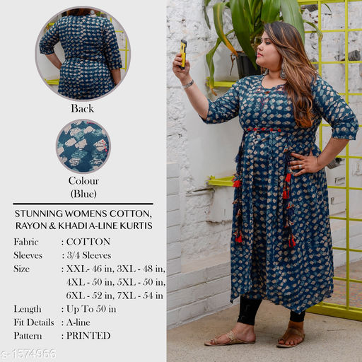Divena Women's Cotton Geometric Printed Empire Kurti