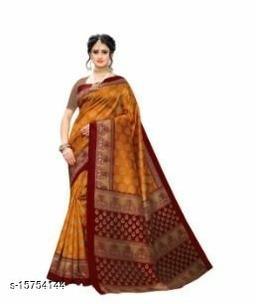 Sarees for women Printed Art Silk Saree