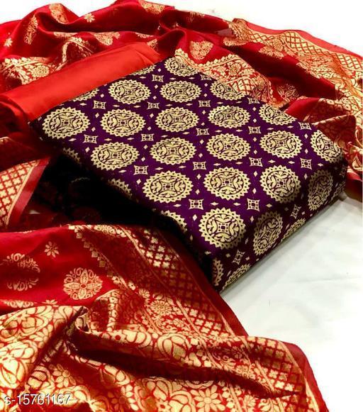 Diva the fashion hubCotton Silk Blend Woven Salwar Suit Material(Unstitched)