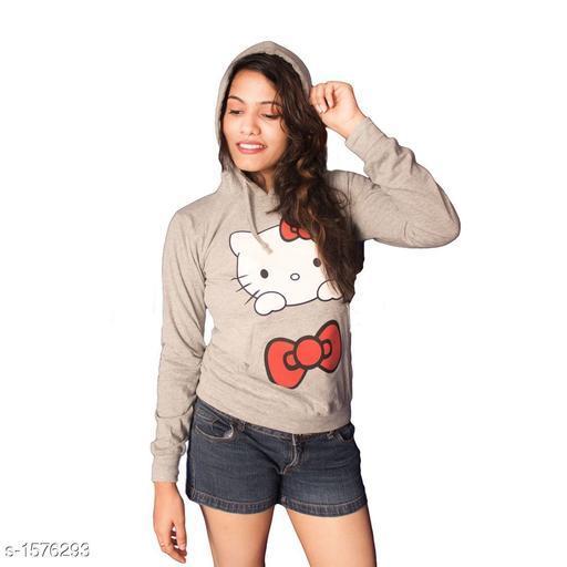 Stylish Knit Cotton Women's Sweatshirt