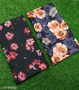 Crape Silk Digital Printed Blouse Pices (Unstiched)