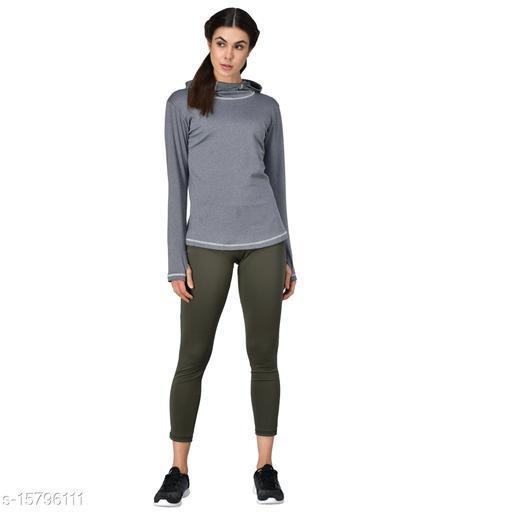 GENSHI Women Sports Hooded Pullover Running & Training Sweatshirt