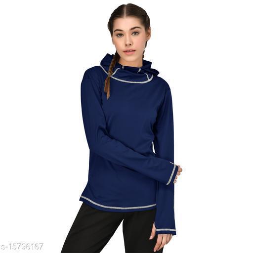 GENSHI Women Solid pullover Sweatshirt