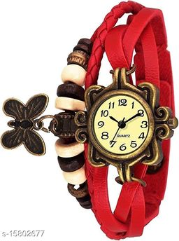 Analogue Red Dori Girl's Watch
