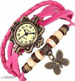Analogue Pink Dori Girl's Watch
