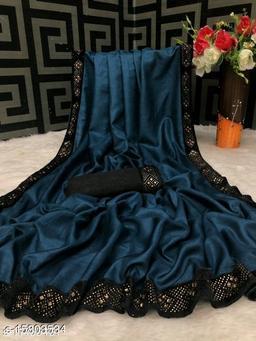 Lehenga Saree with dola Silk Fabric