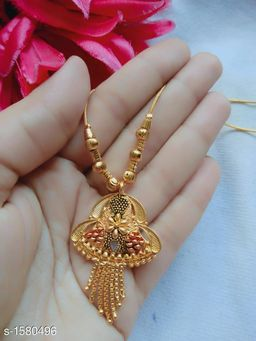 Attractive One Gram Gold Necklace
