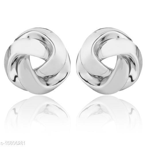 Vembley Silver Trinity Studs Earring
