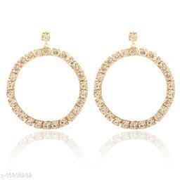 Vembley Gold Bling It On Drop Earring