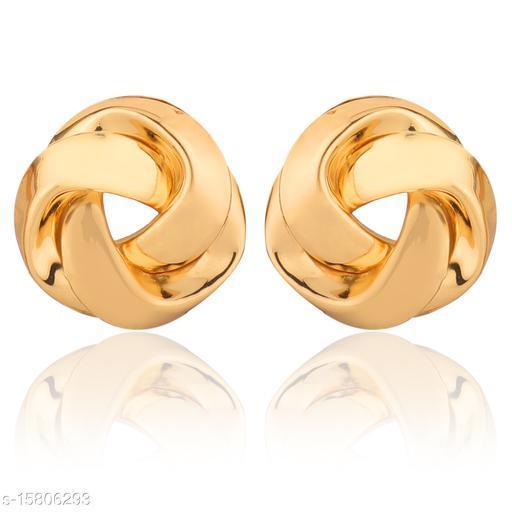 Vembley Gold Trinity Studs Earring