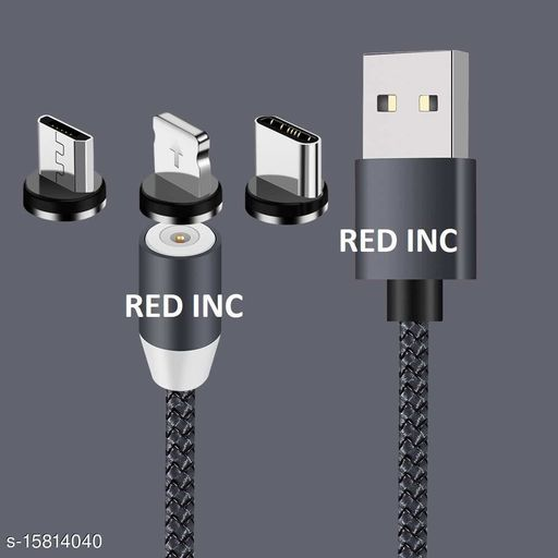 Multi Charging Cable, 3 in 1 Magnetic Charger USB Cable For Device Micro USB Type C Mobile Phone Cable Fast...