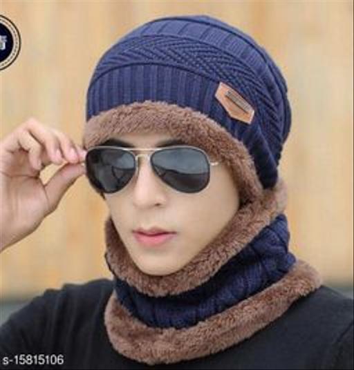 FASHLOOK NAVY BALKALOVA CAP FOR MEN