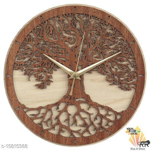 wall clock kalpvriksha wooden clock