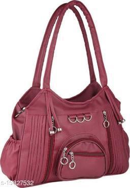 Trendy Women's Maroon PU Messenger Bags